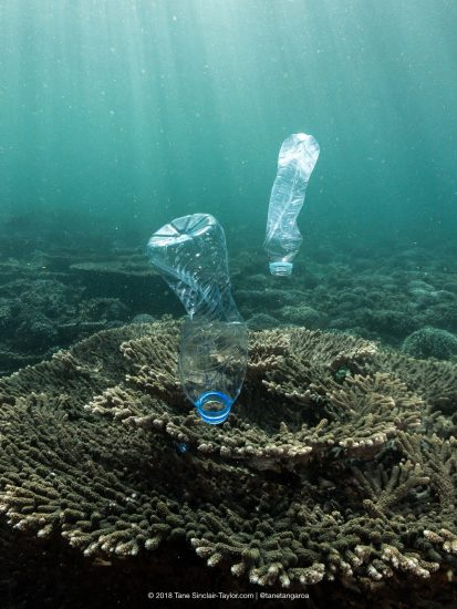 Plastic Pollution in Oman, Gulf or Arabia. Credit: Tane Sinclair-Taylor @Tanetangaroa
