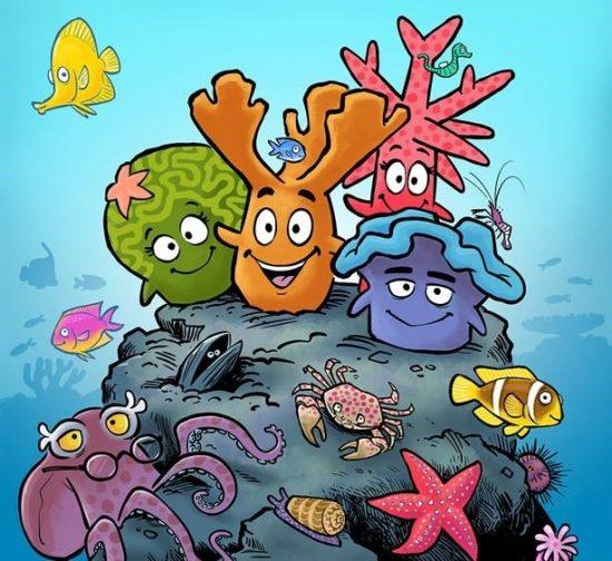 Kids Comic Coral Heros