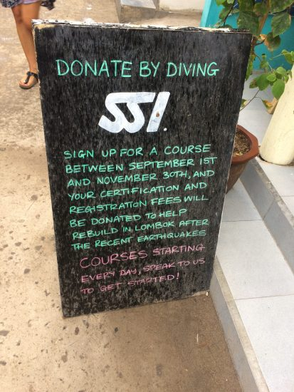 Donate by diving SSI
