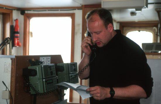 Dr. Christian Bussau, Greenpeace Germany Oceans Expert. Dr. Christian Bussau, Greenpeace Meeresexperte Greenpeace peopleChristian Bussau onboard ARCTIC SUNRISE, North Sea. 1996