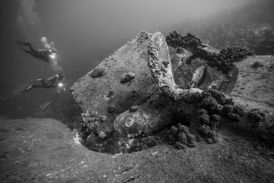 Mikkel, aged 12, enjoying his first wreck dive in the Carribean with his parents. Mom in the picture, dad as the photographer.