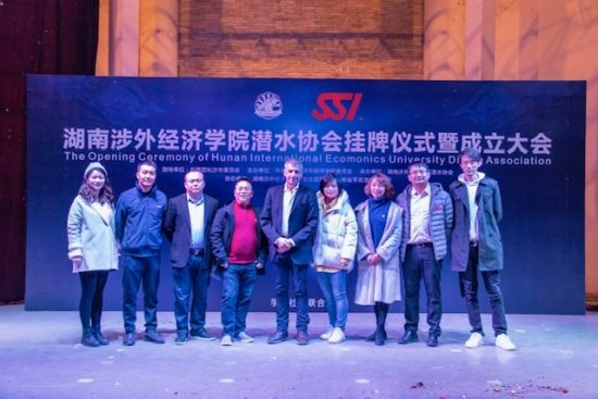 SSI China and Hunan International Economics University Diving Association start partnership