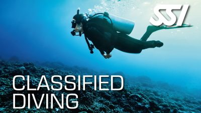 The SSI Classified Diving program provides adaptive training to students with limited mobility and/or sensory disorders