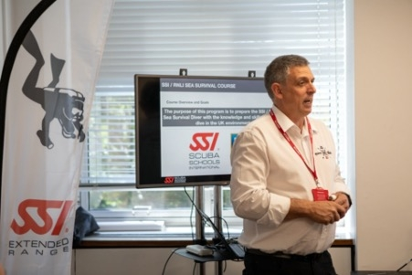 The first presentation of the SSI Sea Survival program