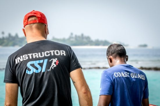 Lifeguard Academy Maldives have training with Lifguard Instructor
