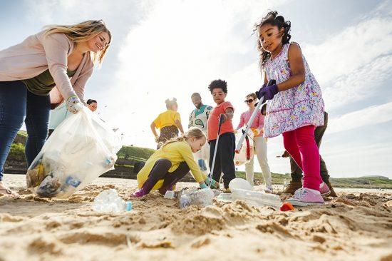 Eco-diver beach clean up.