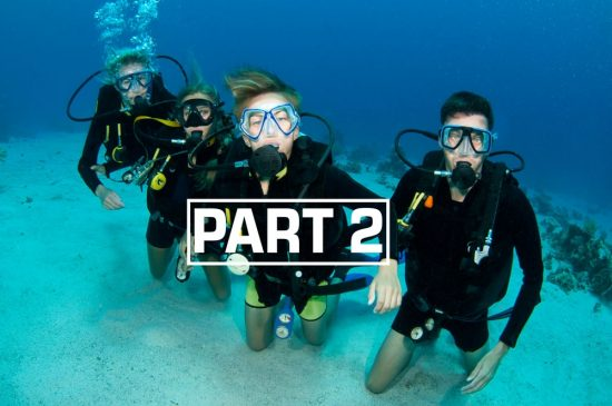 Dive with your family is a lot of fun.