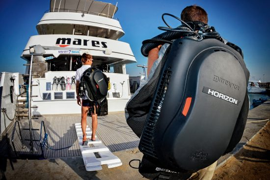Go on board with your diving equipment