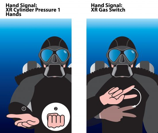 XR hand signals cylinder pressure 1 hands and gas switch